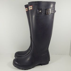 Hunter Shoes - Hunter Original Tall Rain Boots W23499 Navy Blue 7